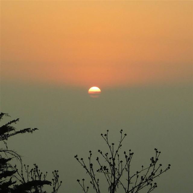 picoftheday lebanon sunset view orange high nature naturelover...